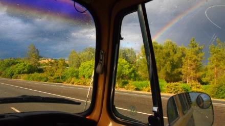 Rainbow on the way to Shasta