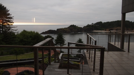 The view of the Whale Cove from Beck