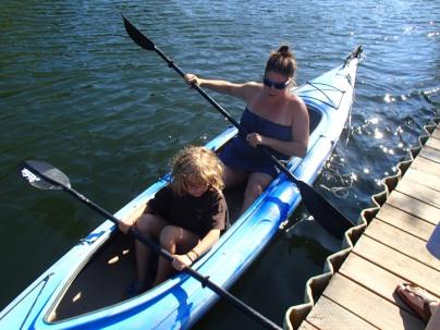 Me and Maya in the kayak