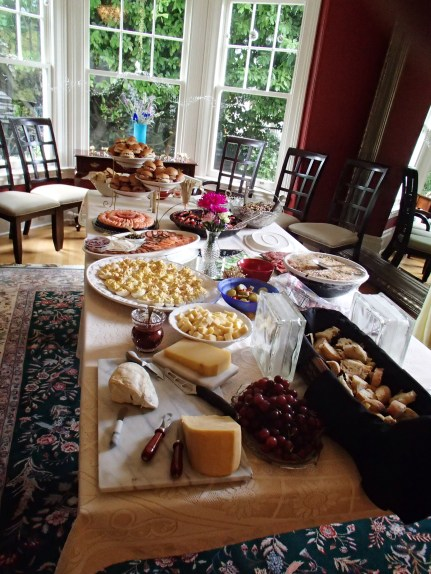 Mom's beautiful spread for the rehearsal dinner