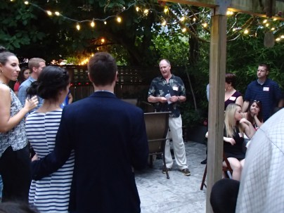 Dad's toast to the couple